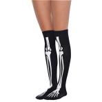 2 Overknee Socks Bones