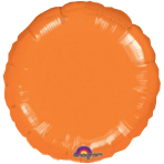 "Standard ""Metallic Orange"" Foil Balloon Round, S15, packed, 43cm"