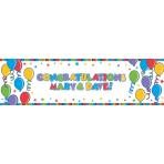 Foil Banner Brilliant Balloons Personalizable 165 x 50.8 cm