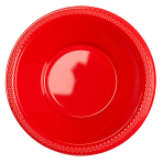 10 Bowls Plastic Apple Red 355ml
