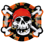 6 Formshaped Plates Jolly Roger