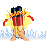 2 Inflatable Clappers Plastic 57 x 6 x 6 cm