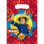 8 Party Bags Fireman Sam - 2017 Plastic 23.4 x 16.2 cm