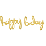 Script Phrase `Happy Bday` Gld
