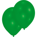 10 Latex Balloons green 27.5cm/11""