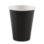 8 Cups Black Paper 250 ml