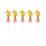 6 Wands Magical Unicorn Paper / Plastic / Foil 45.5 cm