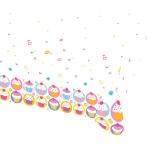Tablecover Cupcake Plastic 120 x 180 cm