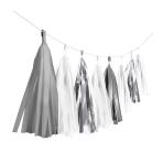 Garland Tassel Silver Dream Paper / Foil 304 cm