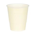 50 Cups Vanilla Creme Plastic 473 ml