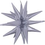 Multi Magic Star' Silver Gross Foil Balloon P70 packaged 76cm x 88cm