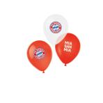"6 Latex Balloons FC Bayern Munich 4 Colours 27,5 cm / 11"""