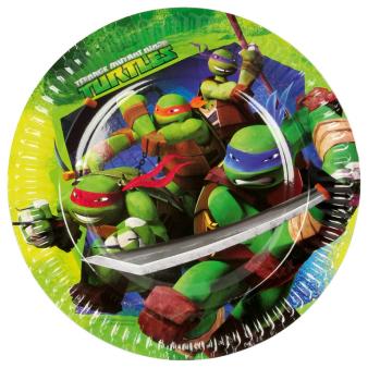 8 Plates Teenage Mutant Ninja Turtles 23 cm