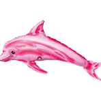 Mini Shape Pink Dolphin Foil Balloon A30 Air Filled