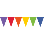 Pennant Banner Rainbow Paper 457 x 17.7 cm