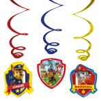 6 Swirl Decorations Paw Patrol