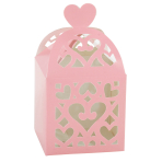 50 Favour Boxes Colourful Wedding New Pink 6.3 x 6.3 x 6.3 cm