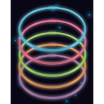 10 Glow Necklaces Assorted Plastic 56 cm