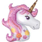 "SuperShape ""Magical Unicorn"" Foil Balloon, P35, packed, 83 x 73cm"
