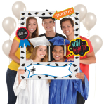 Photo Booth Kit Graduation Photo Frame Plastic / Paper 15 Pieces 76.2 x 88.9 cm