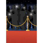 Scene Setter Room Roll Red Carpet Plastic 1.2 x 12.1 m