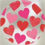 8 Plates Key to your Heart Paper Round 22.8 cm