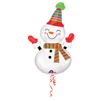 SuperShape Smiley Snowman FoilBalloon P35 Packaged