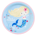 8 Plates Be a Mermaid Paper Round 22.8 cm