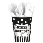 8 Cups Chalkboard Birthday Paper 266 ml