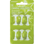 12 Candle Holders Plastic Height 2.5 cm