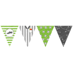 Pennant Banner Kicker Party Paper 400 x 19 cm
