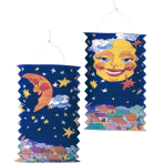 Drop Lantern Sun & Moon Paper 28 cm