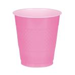 10 Cups Plastic Bright Pink 355ml