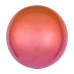 Ombré Orbz Red & Orange Foil Balloon G20 bulk