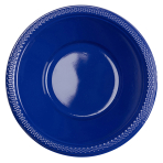 10 Bowls Plastic Navy Flag Blue 355 ml