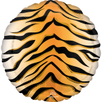 Standard Tiger Print Animalz Foil Balloon S18 Packaged