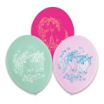 6 Pretty Pony Latex Balloons 1-Side Print 22.8 cm