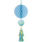 Honeycomb Decoration with Tassel Oh Baby Boy Paper 74.9 cm