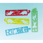 12 Tracing Strips Plastic 17.1 x 4.1 cm
