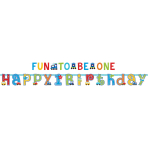2 Banners All Aboard Birthday 320 x 25/183 x 10 cm