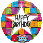 Sing-A-Tune Happy Birthday Faces Foil Balloon P60 Packaged