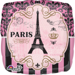 "Jumbo ""A Day in Paris"" Foil Balloon  P32, packed, 71 x 71cm"