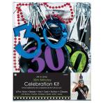 Party Kit 30th Birthday Paper / Plastic / Foil 6 Pieces 73.4 x 7.2 cm / 26.5 cm