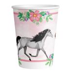 8 Cups Beautiful Horses Paper 250 ml
