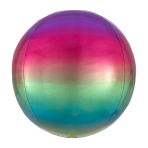Ombré Orbz Rainbow Foil Balloon G20 packaged