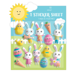 14 Stickers Puffy Easter Characters Plastic 16 x 14.9 cm