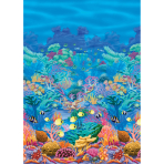 Scene Setter Room Roll Coral Reef Plastic 1.2 x 12.1 m