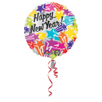 Standard New Year Bright StarsFoil Balloon S40 Packaged