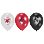 6 Latex Balloons Knights 22.8 cm/9''
