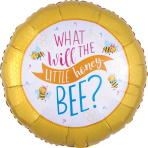 Standard What Will it Bee Foil Balloon S40 packaged